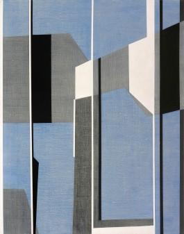 Composicion azul, 162x130cm, Acrilico, 2015