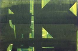 Estructura con fondo, 97x65cm, Acrílico, 2013